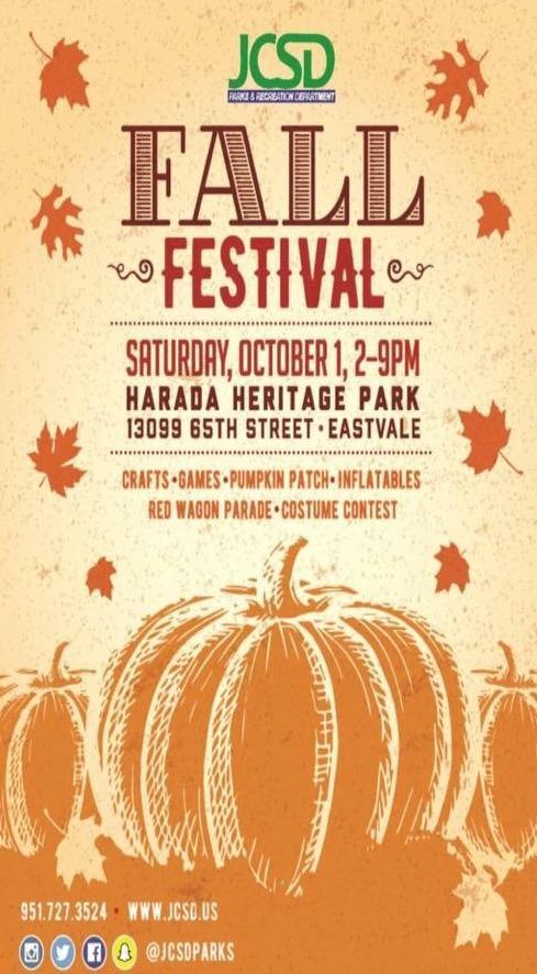 Annual Fall Festival at Harada Park
