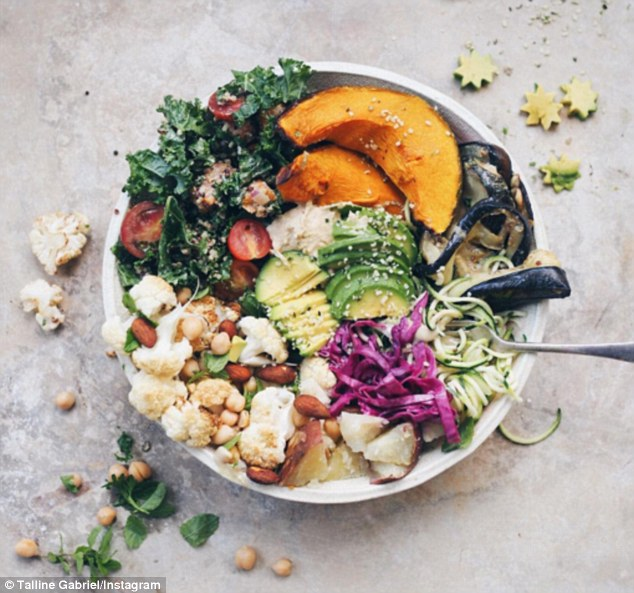 Colorful vegan meals like this make for great pictures.