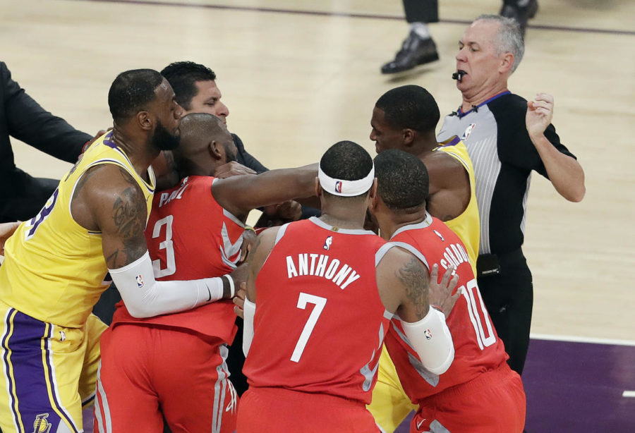 Houston+Rockets%27+Chris+Paul%2C+second+from+left%2C+fights+with+Los+Angeles+Lakers%27+Rajon+Rondo%2C+top+right%2C+during+the+second+half+of+an+NBA+basketball+game+Saturday%2C+Oct.+20%2C+2018%2C+in+Los+Angeles.+%28AP+Photo%2FMarcio+Jose+Sanchez%29