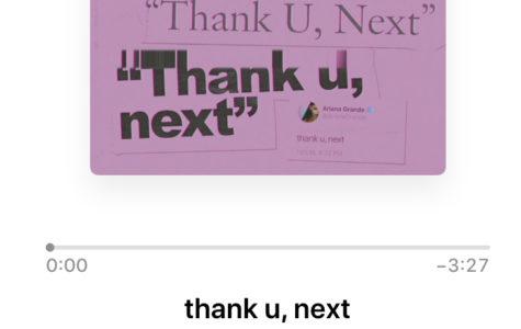 "Ariana Grande's Newest Single ""thank you, next"""
