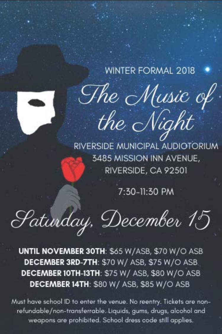 This flyer contains all the information you need to know about Winter Formal 2018.