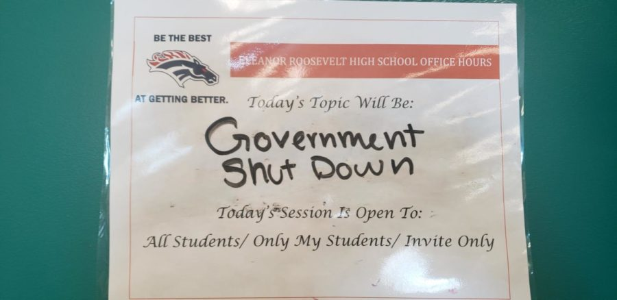 Debate Topic Form posted outside of Mr. Pourchots classroom.