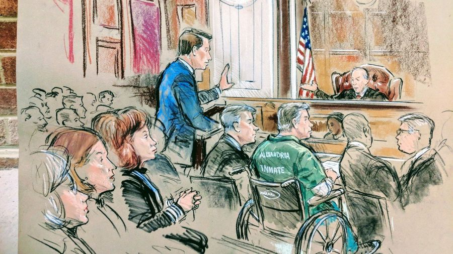 Drawing/Bill Hennessy -Trial of Paul Manafort