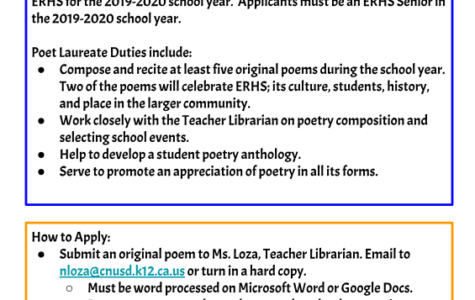 ERHS Poet Laureate Program Launch