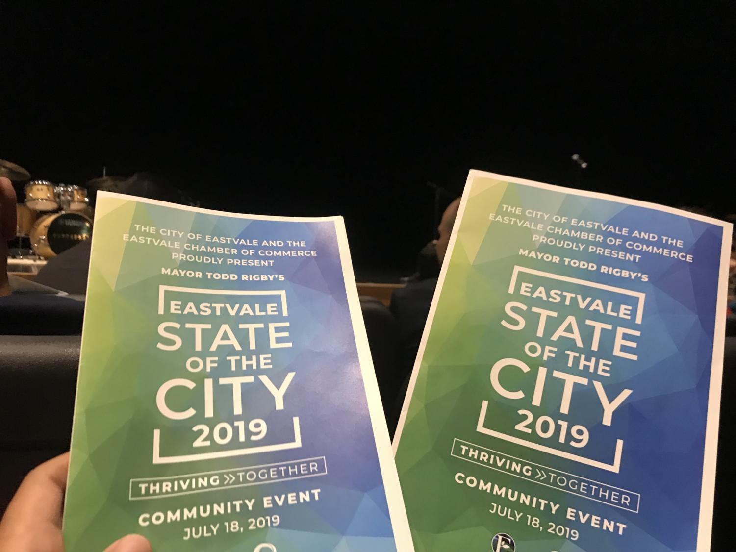 Pictured above are the programs from the State of the City