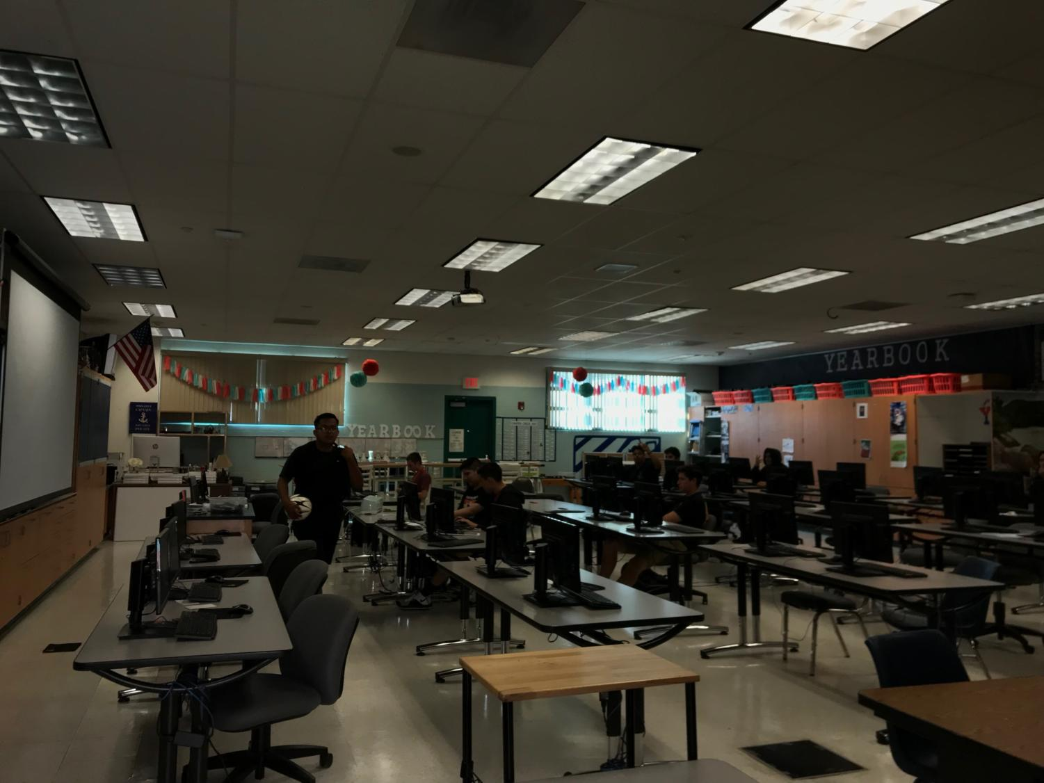 Pictured above: The ERHS Yearbook room.