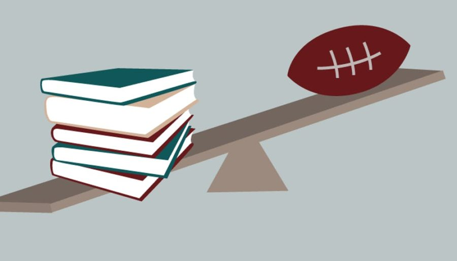 Balancing and prioritizing school and athletics can be very difficult for student-athletes.