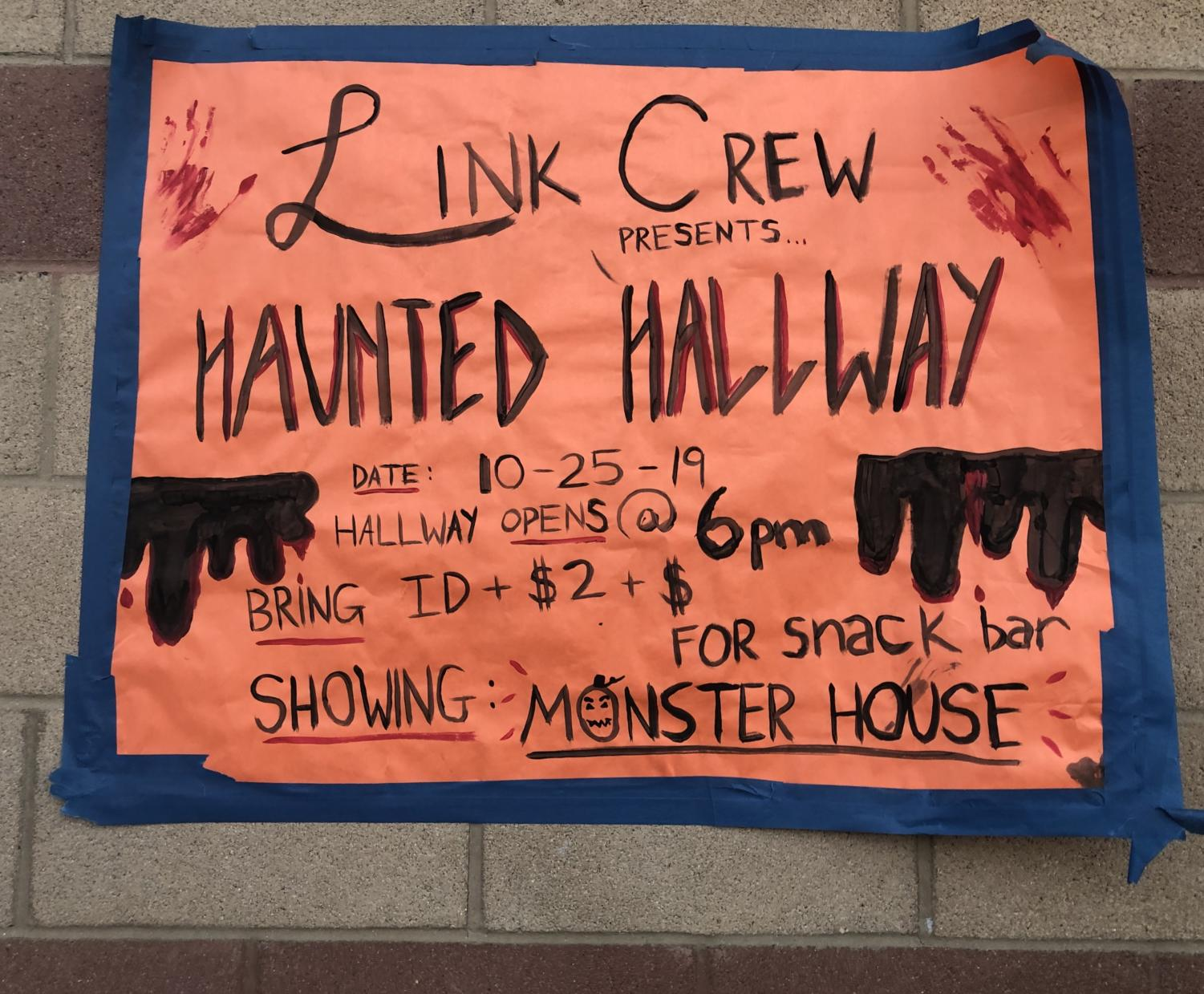 The Haunted Hallway with a movie and a snack bar.