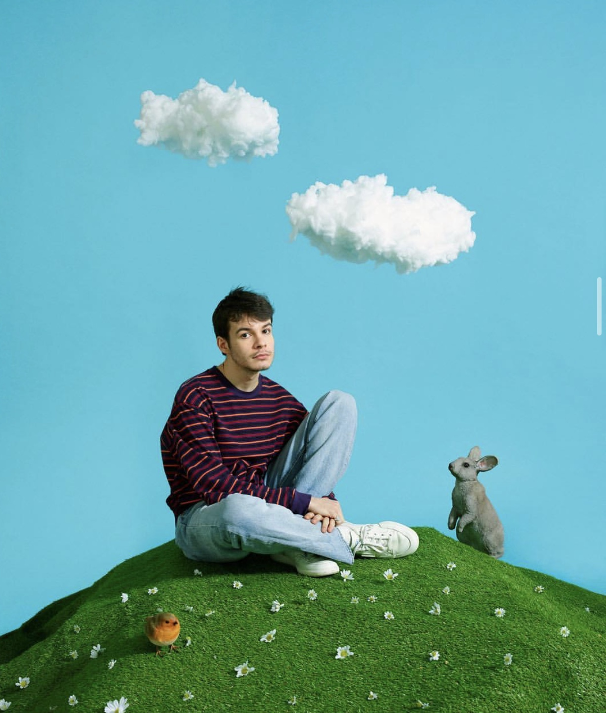 Image was taken to promote, Rex Orange County's appearance at the We Love Green Festival.