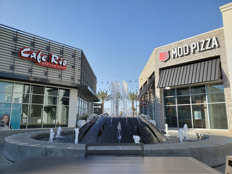 Cafe Rio and MOD Pizza at The Station, a developing retail center.