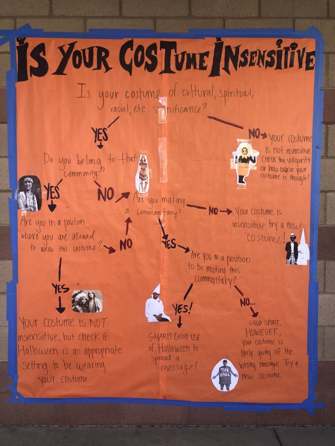Mr. Mata's Social Justice class and club worked together to make a mural for the students and staff on campus.