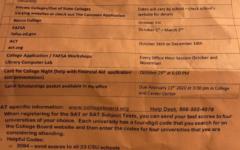 ERHS College Application Season