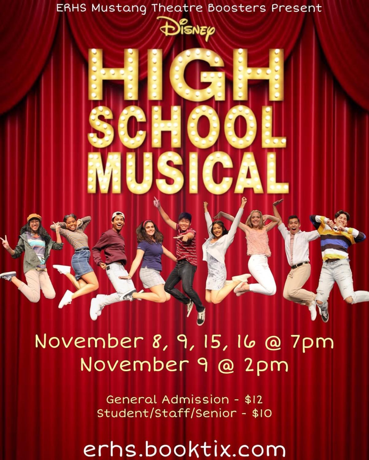 The ERHS Theatre production of High School Musical ran for four days, five shows in total.