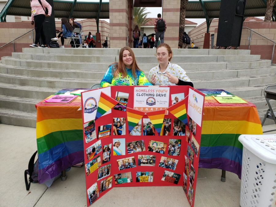 GSA, along with other clubs, set up for Giving Tuesday, a day for charity and giving.