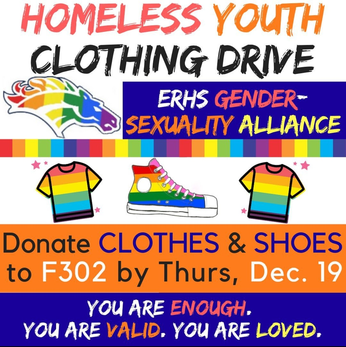 GSA is collecting clothing donations to give to homeless youth.