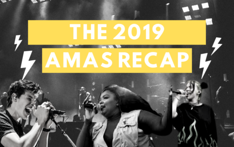 The 2019 AMAs Recap Cover featuring Shawn Mendes, Lizzo, and Billie Eilish. (Left to Right)