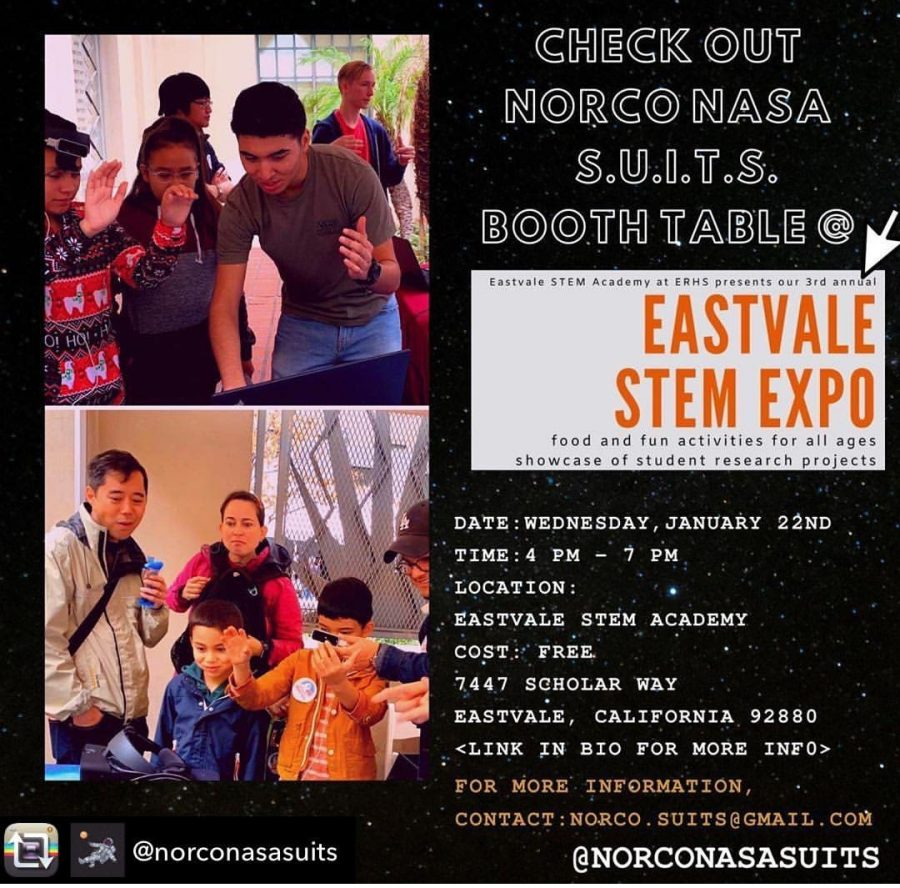 Flyer for the upcoming STEM Expo courtesy of the ESTEM Instagram account.