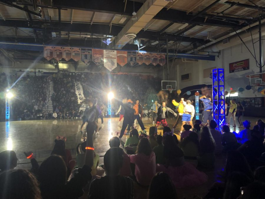 ERHS dance group, Flava, performing during the annual Winter rally
