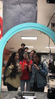 Students, Katie Taing, Bethany Liu, Briyonce Rezendez, Alize, Christopher Raquiza, and Wesely Han being ready and excited for 2020.