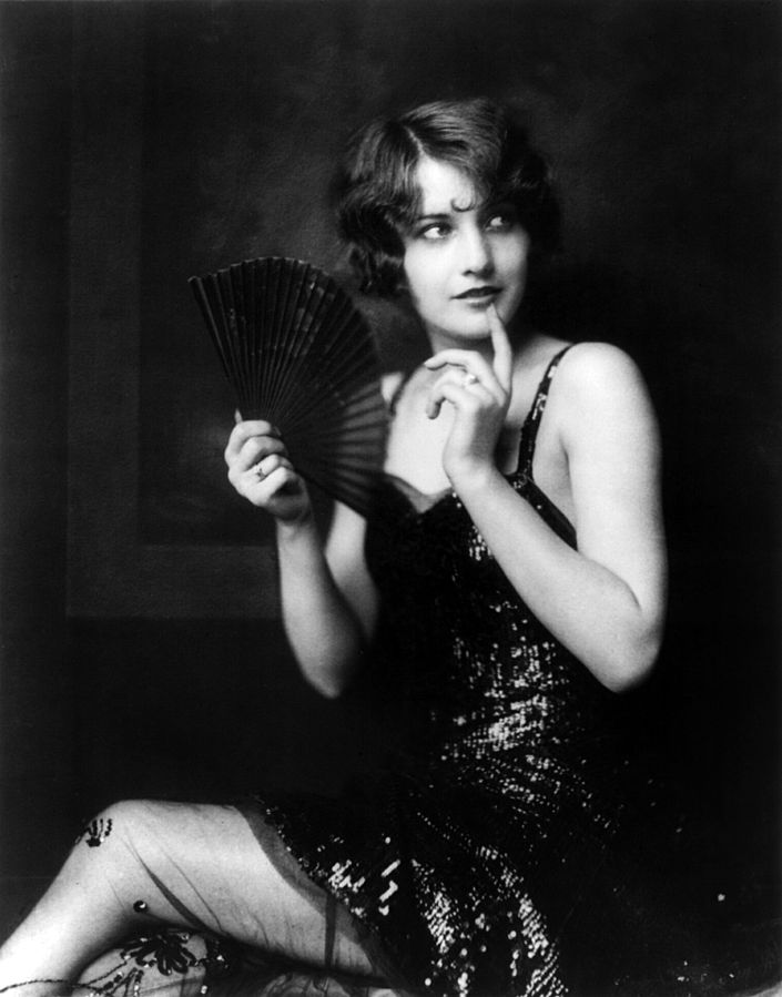 Photo of Barbara Stanwyck an actor and famous flapper modeling for Johnston