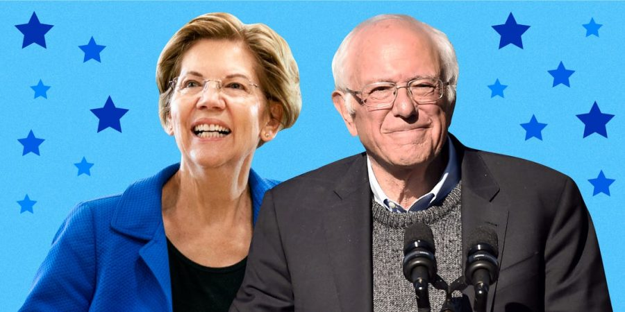 Senators Elizabeth Warren and Bernie Sanders, Candidates for the Democratic Party