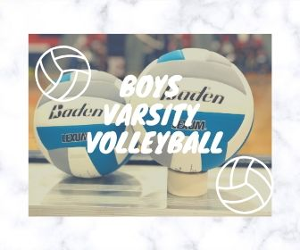 This image is to represent the boys varsity team, and by using their volleyballs.