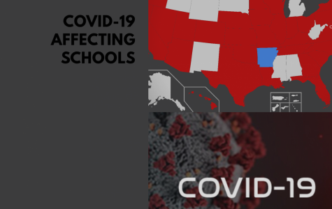 COVID-19 also known as the Corona Virus, affecting schools nationally, and creating this image to represent this affect.