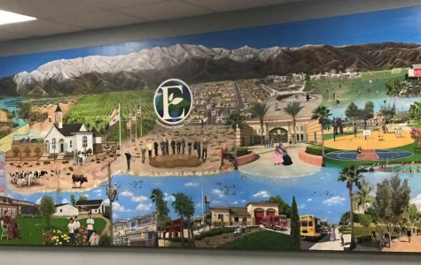 The City of Eastvale's mural painted by Rosemary Vasquez.