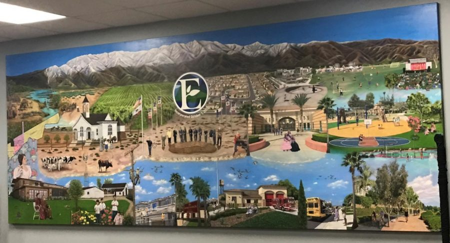 The City of Eastvales mural painted by Rosemary Vasquez.