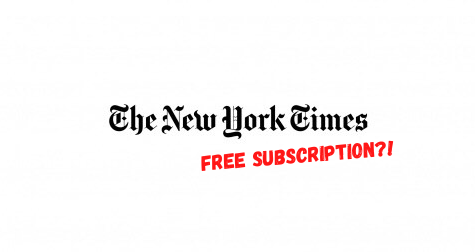 Free NYT subscription for students