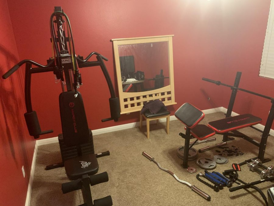 My home gym equipment
