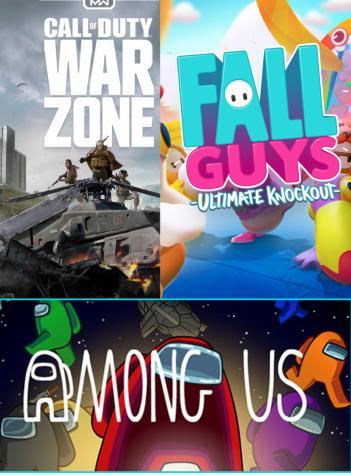 Warzone, Fall Guys, Among US