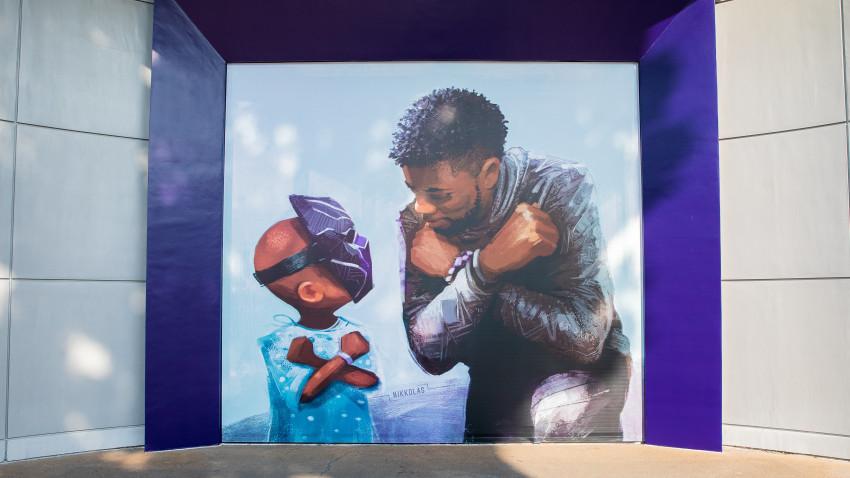 """""""King Chad"""" at Downtown Disney"""