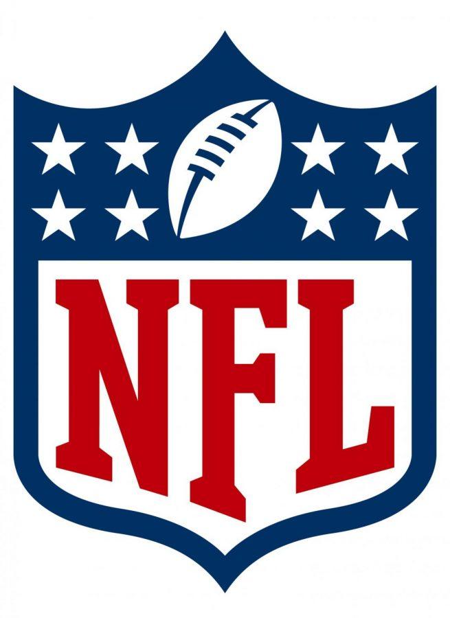 The National Football League , NFL, logo.