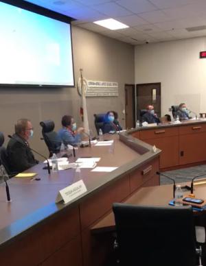Screenshot from CNUSD 11/10 Board Meeting Video
