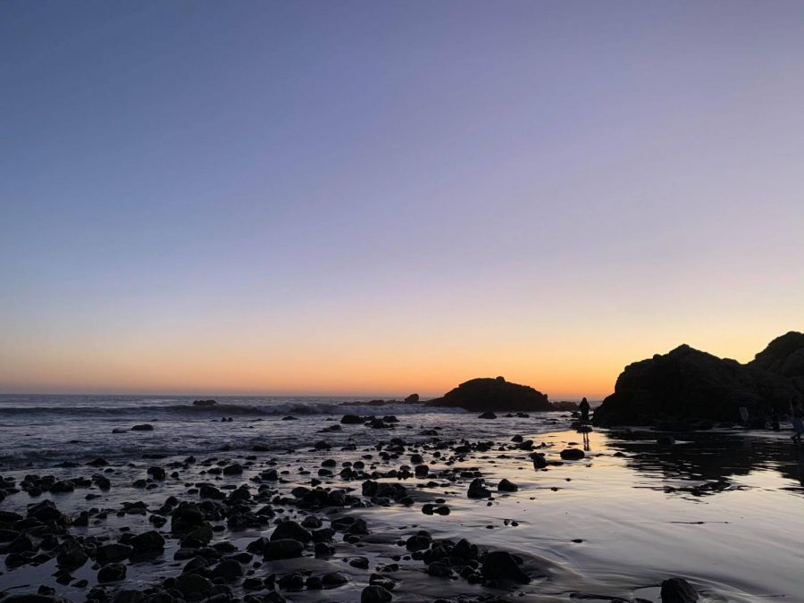 Amazing sunset at Leo Carrillo State Beach in Malibu, CA