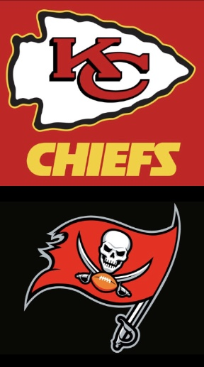 The Chiefs and the Buccaneers are set to play in Super Bowl 55 (edited by me.)