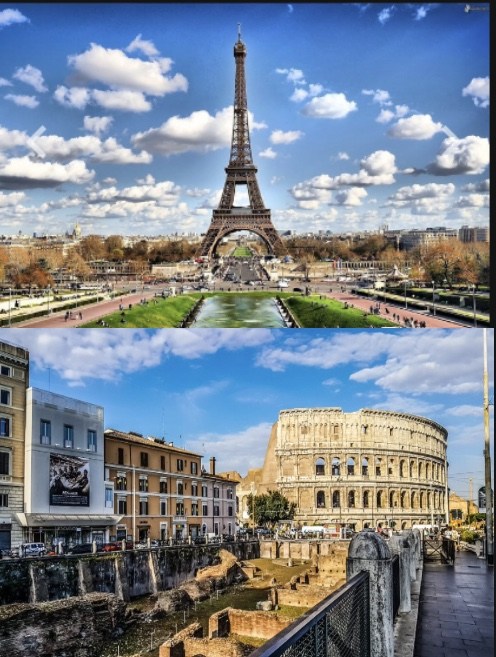 France and Italy are among the world's most beautiful countries to see and experience (edited by me.)