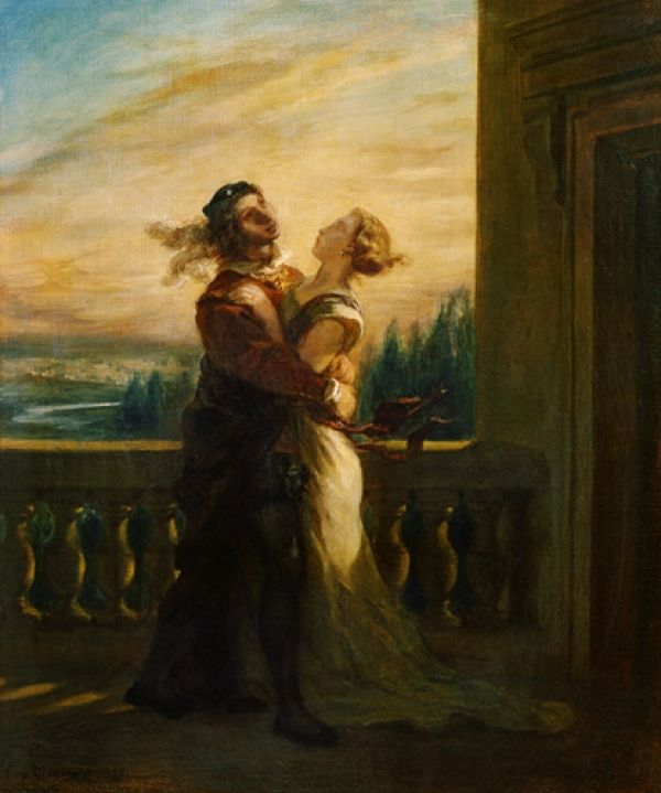Romeo and Juliet Farewell Painting