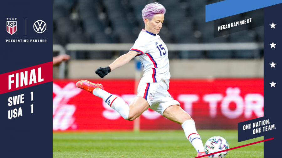 A+picture+of+Rapinoe%27s+late+penalty+kick%2C+securing+the+1-1+tie+against+Sweden.+