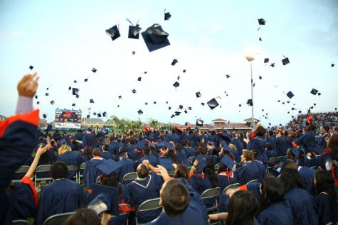 ERHS in-person graduation in 2014.