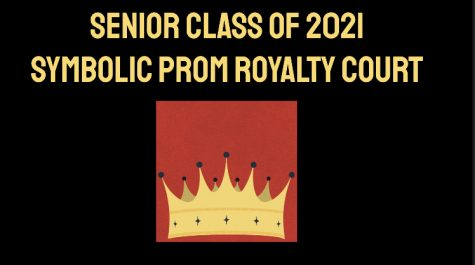 The first slide in the slideshow introducing the candidates for the 2021 symbolic prom nominations.