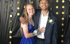This is Abigail and I at the prom that her family threw for us and her friends