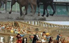 From ancient times to modern times, horse racing was a part of people's lives. (edited by me.)