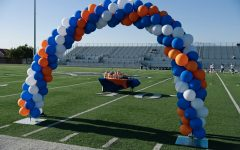 The set up for ERHS's senior night.