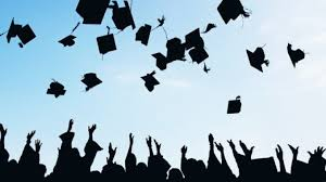 This is the Throwing the Hat tradition that seniors usually get to do after their graduation.